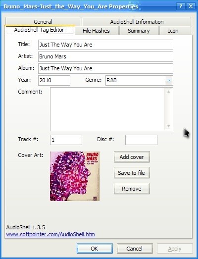View Edit Mp3 Tags Or Add Album Art Via File Properties John S Phone The World S Simplest Cell Phone