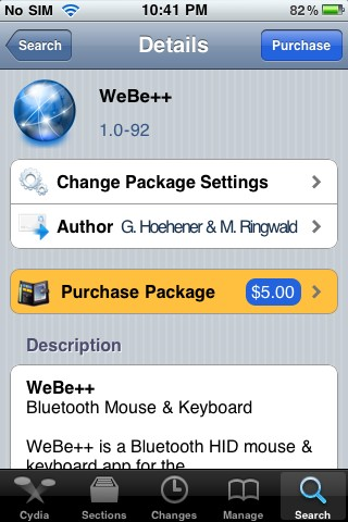 Webe Transforms Your Iphone Into A Bluetooth Keyboard For Your Computer Jailbreak App John S Phone The World S Simplest Cell Phone