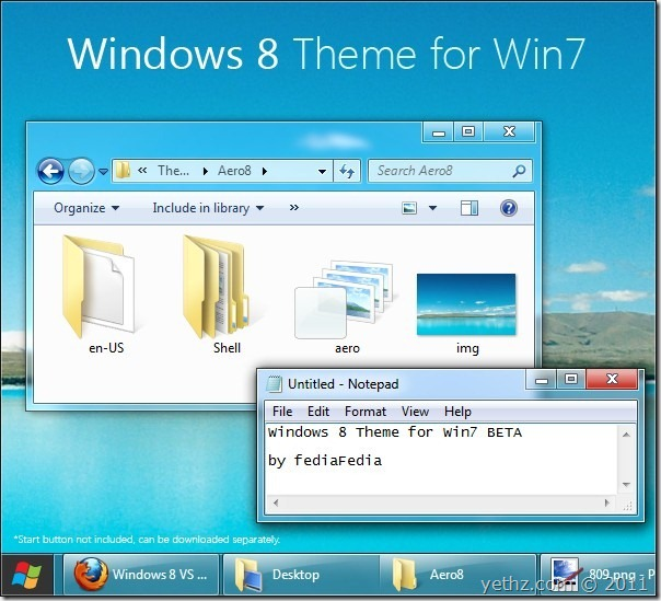 Windows 8 Visual Style for Windows 7