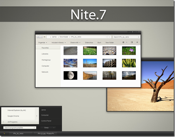 Download Nite 7 Theme for Windows 7